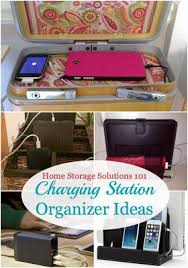 Electronic Charging Station Desk Organizer Charging Station Organizer Ideas For Phones Other Electronics