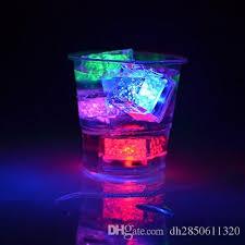 light up cubes liquid sensor rainbow color led light up cubes for drinks bar