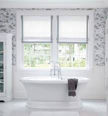 Kitchen Window Treatments Roman Shades - interior and decor useful bathroom window treatments white and