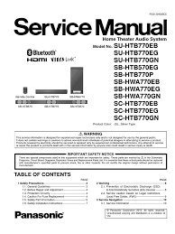 5 1 panasonic home theater system panasonic sc htb770gn pdf hdmi electrostatic discharge