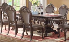 old world dining room tables old world 80 95 double pedestal dining table rich wood finish