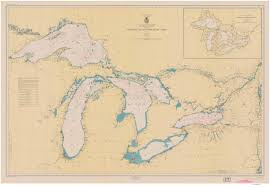 Map Of Great Lakes New York Historical Nautical Charts