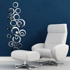 free shipping fashion circles mirror style removable decal vinyl