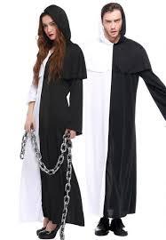 Men Black Halloween Costume Halloween Costume Men Women Sweethearts Black White