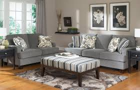 furniture charcoal velvet sofa and loveseat mixed with striped