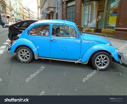 old blue volkswagen old blue preserved beetle volkswagen prague stock photo 621027761
