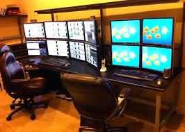 Desk For Dual Monitor Setup Computer Desk Multiple Monitors Tag Outstanding Computer Desk For