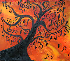 musical tree painting by apostolova