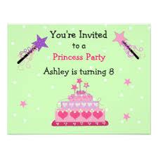 princess theme birthday invitations u0026 announcements zazzle canada