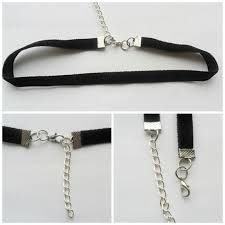 black neck choker necklace images Choker necklace black ribbon adjustable size with a width of 3 8 jpg