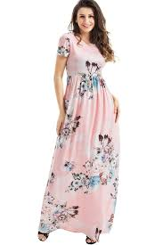 blush maxi dress pockets design sleeve blush floral maxi dress mb61560 10