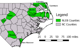 Map Of North Carolina Counties Fish And Wildlife Service