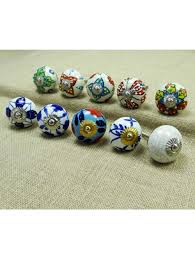 kitchen knobs ceramic drawer pull multicolor knob cabinet hardware