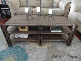 ana white arhaus inspired coffee table featuring sawdust to