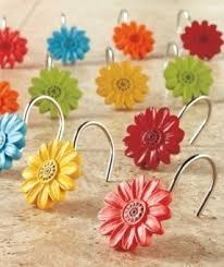 Shabby Chic Shower Curtain Hooks by Daisies Shower Curtain Foter