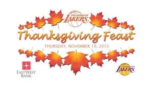 lakers thanksgiving feast 2015 los angeles lakers