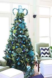 tree with blue decorations 37 inspiring tree