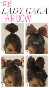 hairstyles quick and easy to do m lady gaga hair bow i m kind of wishing i had longer hair to do