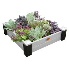 grow bags pots planters the home depot 36 in x 36 in x 10 in maintenance free vinyl