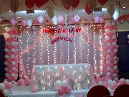 Simple Birthday Decoration Ideas At Home Contemporary Picture Of 2dc13 Buffet Birthday Decoration At Home