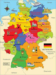 map of germny map of germany in german language major tourist