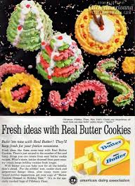 christmas spritz cookie designs 1961 click americana