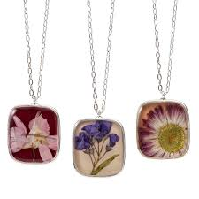 flowers of the month birth month flower necklace pressed flowers birth flowers