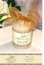 50th anniversary favors lmk gifts anniversary party gift candle favors