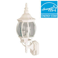 Hampton Bay Outdoor Light Fixtures by Hampton Bay 1 Light White Outdoor Round Wall Bulkhead Light