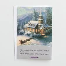 personalized boxed christmas cards kinkade to god 18 premium christmas boxed cards