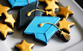 graduation cookies go for the graduation gold