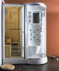 sauna in bagno box doccia idromassaggio 168x95cm con sauna e cromoterapia vi