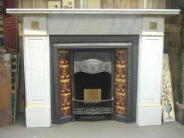 antique victorian carrara u0026 sienna marble fireplace surround old