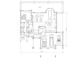 arts and crafts floor plans deer valley log home plan