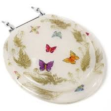 butterfly decorative elongated toilet seats The Decorative