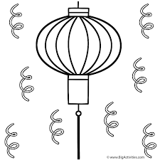 new years streamers lantern with streamers coloring page new year