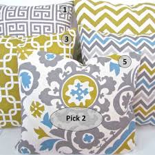 24x24 Decorative Pillows Sale Yellow Pillow Covers Select Any Size From Sayitwithpillows