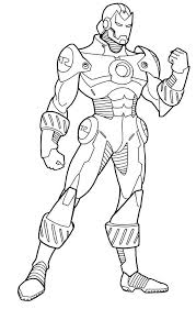 coloring lovely iron man color coloring pages kids