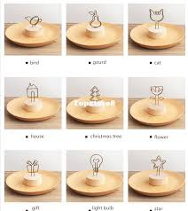 2017 cheap creative place card holder table number for wedding