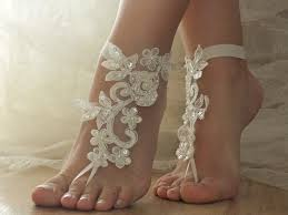 barefoot sandals for wedding ivory wedding barefoot sandals wedding shoes prom party