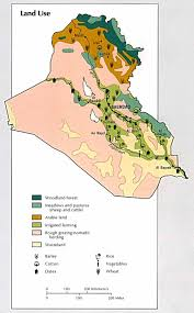 Map Of Al Map Of Iraq Land Use Cosmolearning Geography