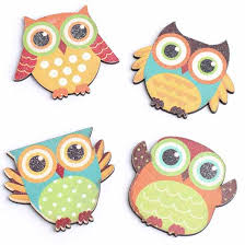 wood hoot owl magnet fall craft supplies fall and