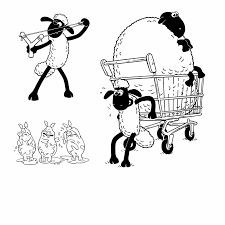 coloring pages shawn the sheep coloring pages kids