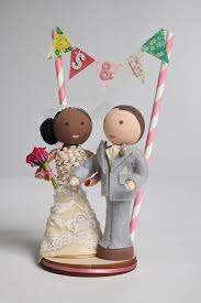 handmade customized bride and groom wooden peg doll wedding