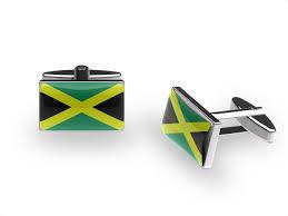 Colors Of Jamaican Flag Jamaica Flag Cufflinks Jamaican Bolt Cuffs U0027n U0027 Collars