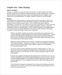 sample sales strategy 7 documents in word pdf