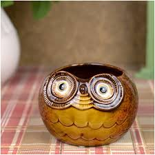 wholesale creative gift zakka china ceramic arts handmade owl jar