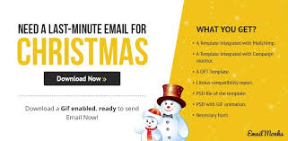 emailmonks free downloadable christmas email template