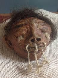 shrunken head diy air dry clay haunted house halloween nurse