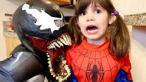 Joker Toddler Halloween Costume by Frozen Elsa Vs Baby Joker Vs Spidergirl Vs Hulk Vs Spiderman